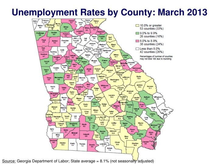 Unemployment Rates by County: