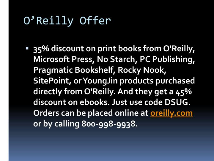 O'Reilly Offer