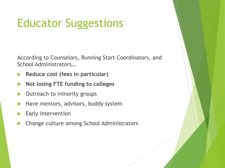 Educator Suggestions