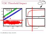 csc threshold impact