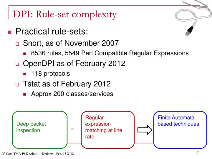 DPI: Rule-set complexity