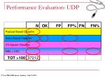 performance evaluation udp