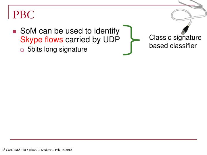 Classic signature based classifier