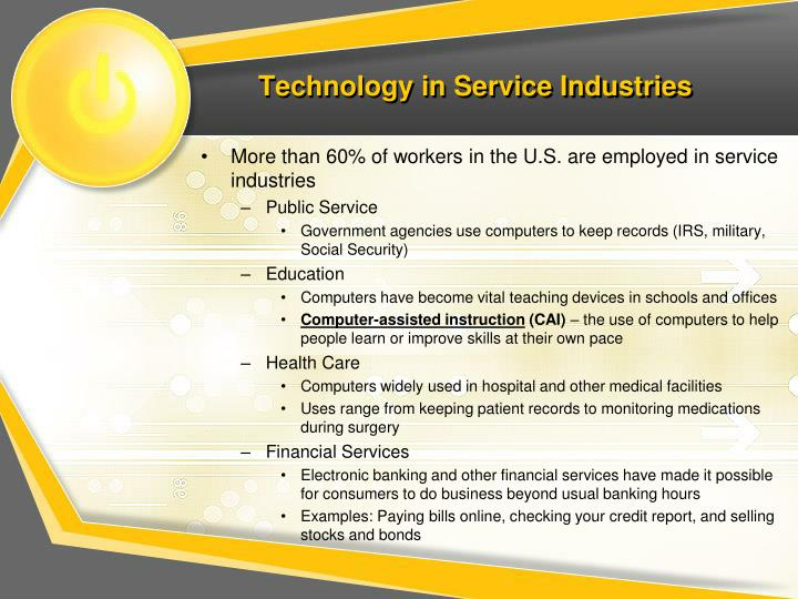 Technology in Service Industries
