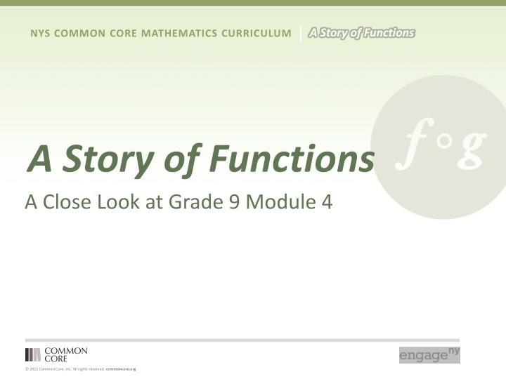 A Story of Functions