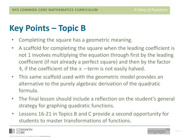 Key Points – Topic B