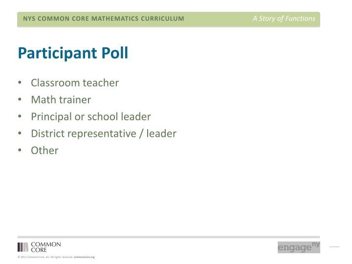 Participant Poll