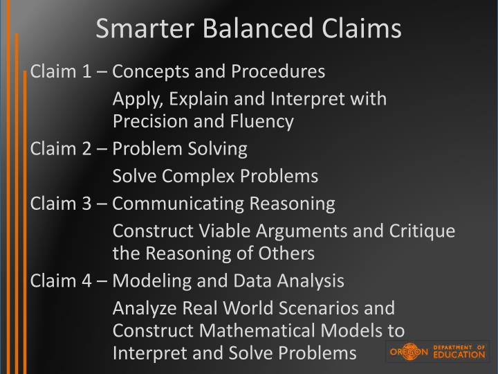 Smarter Balanced Claims