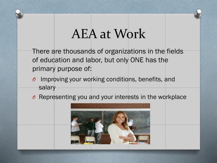 AEA at Work