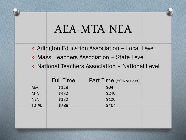 AEA-MTA-NEA