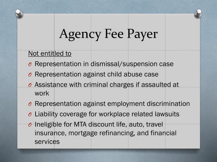 Agency Fee Payer