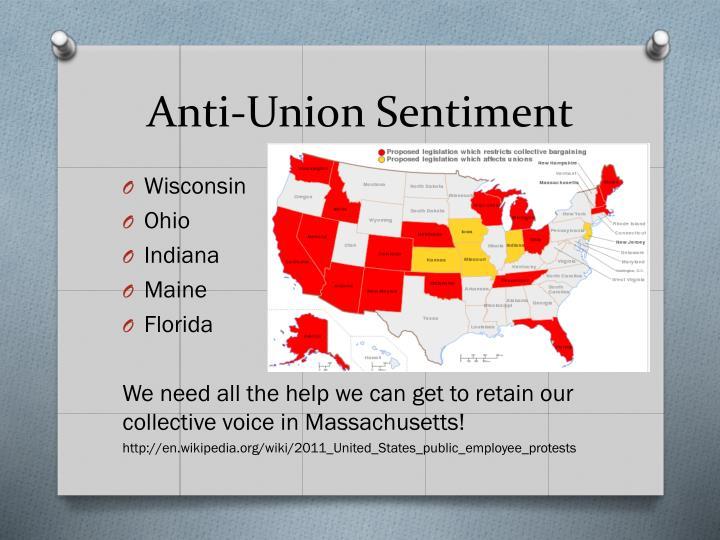 Anti-Union Sentiment