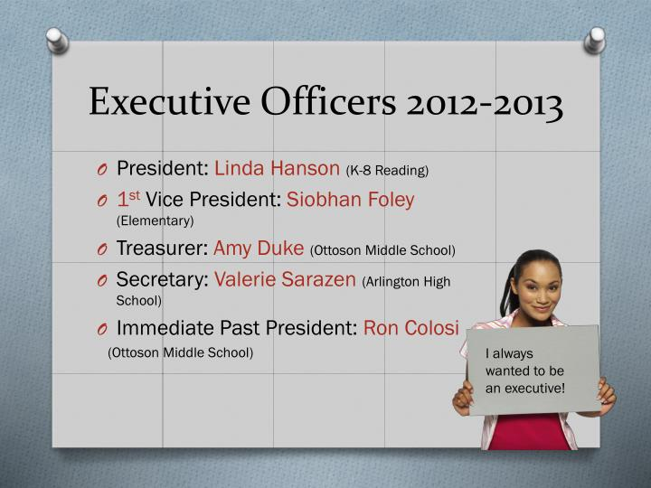 Executive Officers 2012-2013