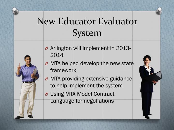 New Educator Evaluator System
