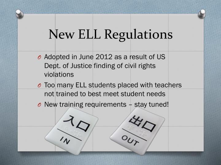 New ELL Regulations