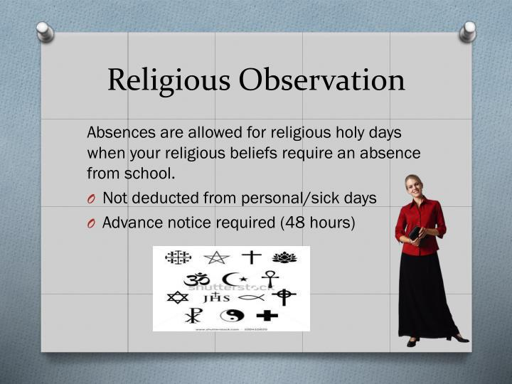 Religious Observation