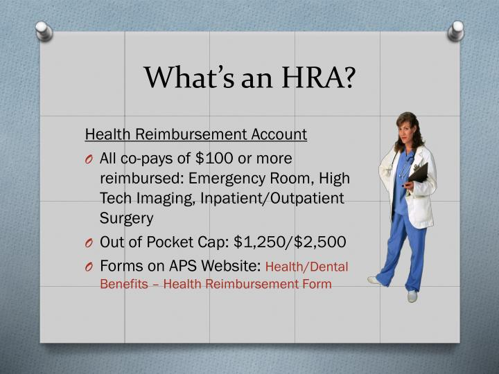 What's an HRA?