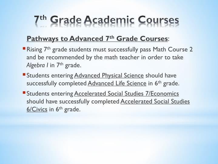 Pathways to Advanced 7