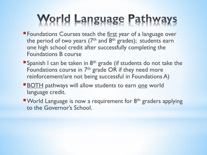 Foundations Courses teach the