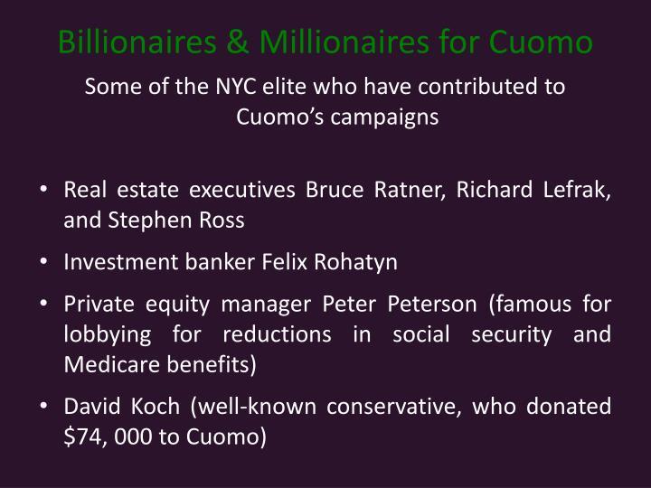 Billionaires & Millionaires for Cuomo