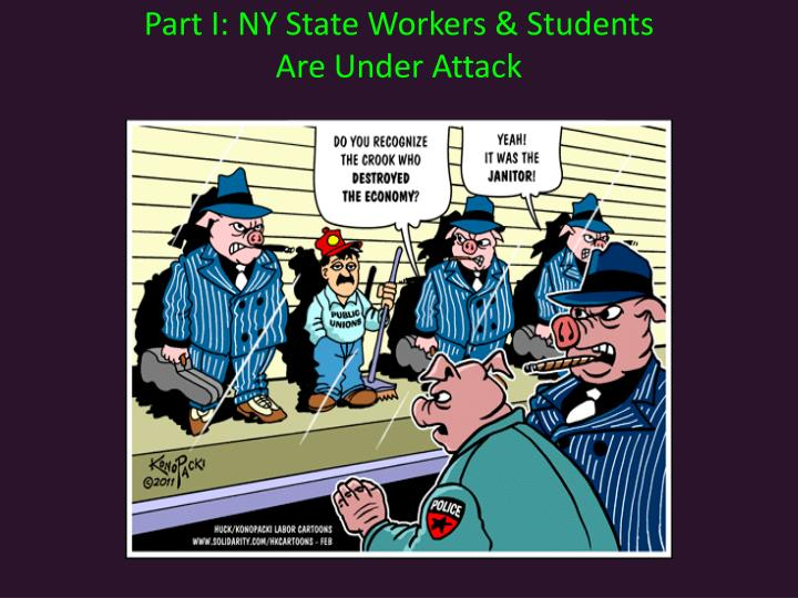 Part I: NY State Workers & Students