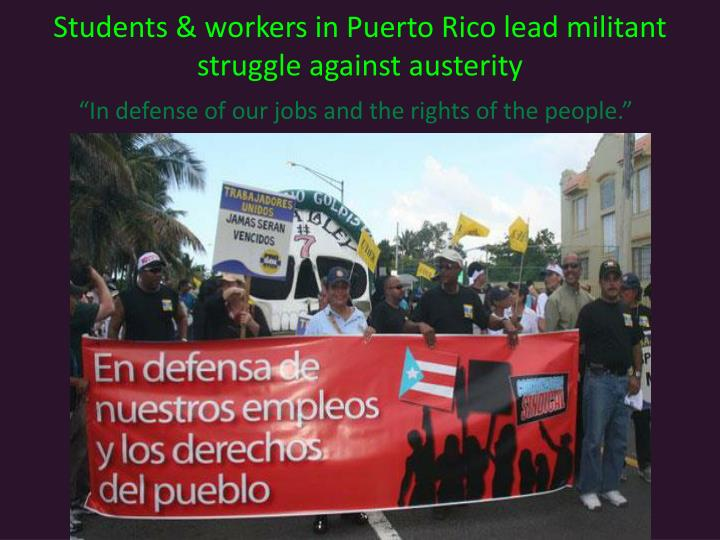 Students & workers in Puerto Rico lead militant struggle against austerity