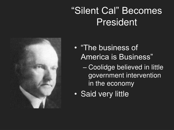 """Silent Cal"" Becomes President"