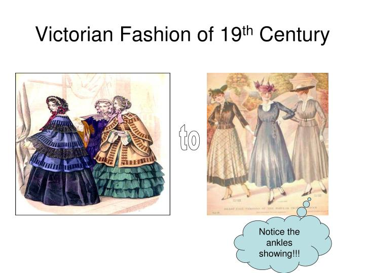 Victorian Fashion of 19