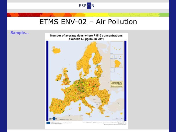 ETMS ENV-02 – Air Pollution