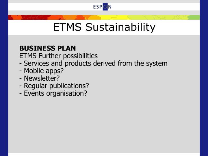 ETMS Sustainability