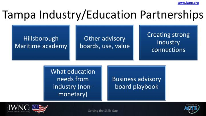 Tampa Industry/Education Partnerships