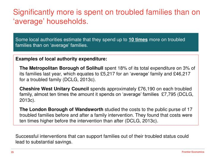 Significantly more is spent on troubled families