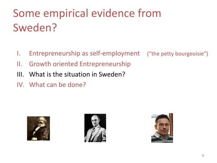 Some empirical evidence from Sweden?