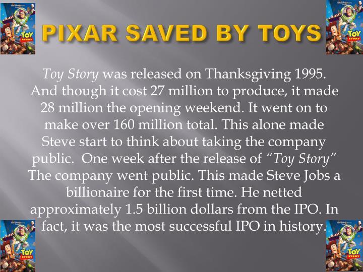 PIXAR SAVED BY TOYS