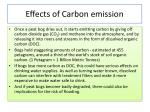 effects of carbon emission