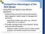 competitive advantages of the rea model1