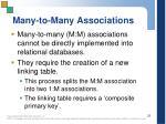 many to many associations