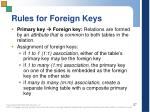 rules for foreign keys