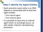 step 3 identify the agent entities