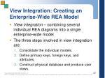 view integration creating an enterprise wide rea model