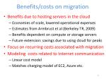 benefits costs on migration