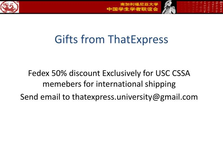 Gifts from ThatExpress