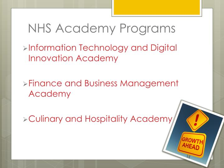 NHS Academy Programs