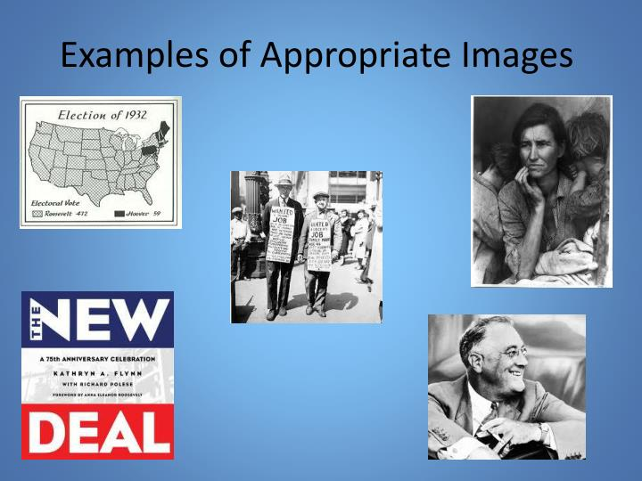 Examples of Appropriate Images