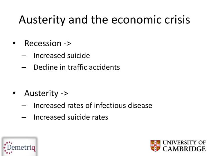 Austerity and the economic crisis