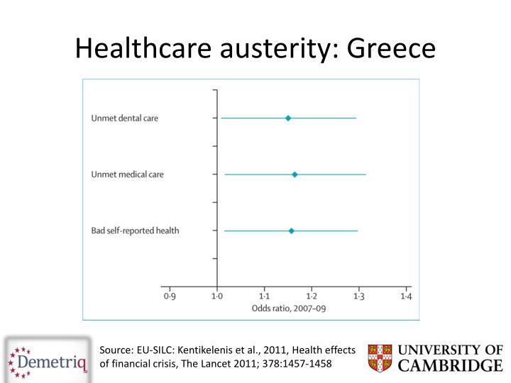 Healthcare austerity: Greece