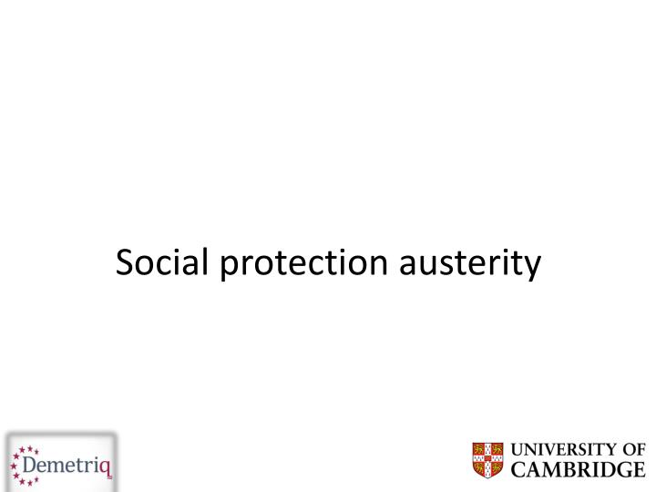 Social protection austerity