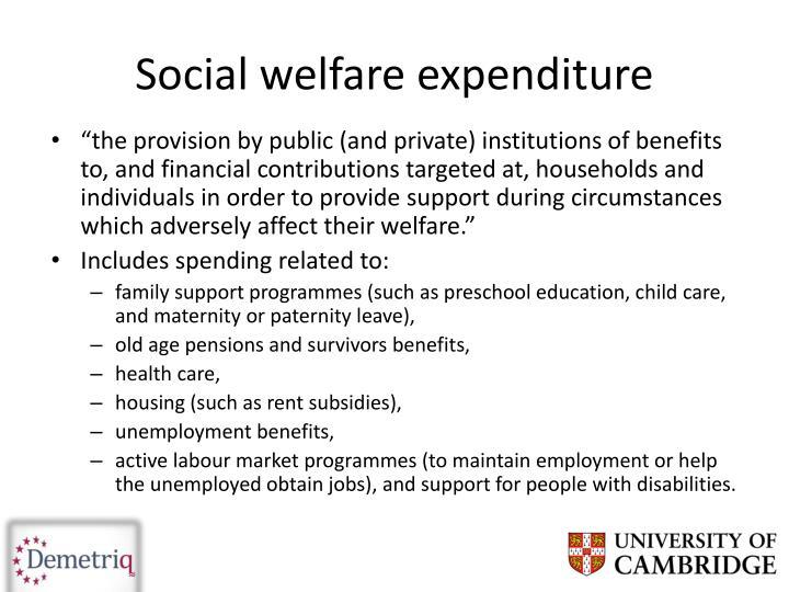 Social welfare expenditure