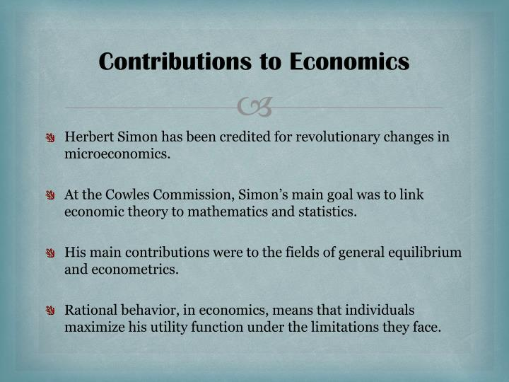 Contributions to Economics