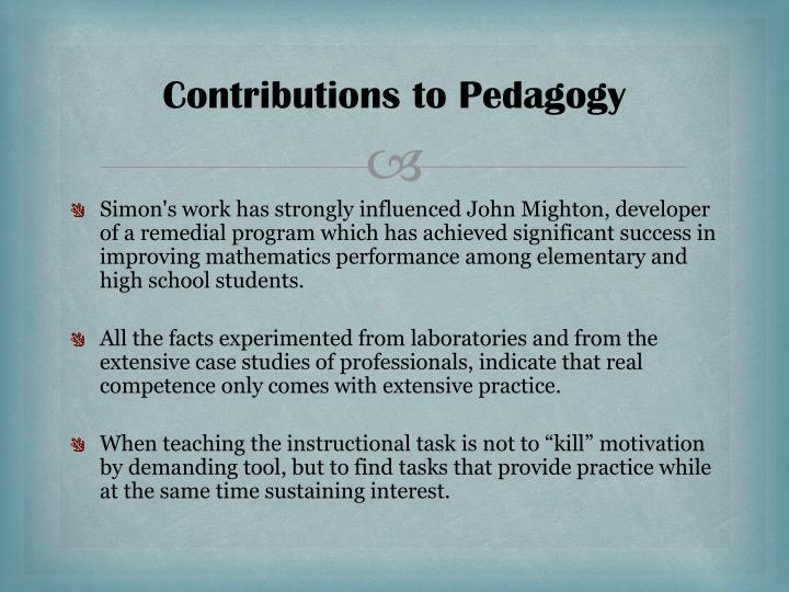 Contributions to Pedagogy